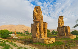 Der Friedhof in Luxor Stockfoto