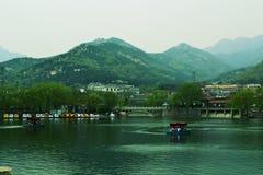 Der Fuß der Montierung Tai in China Stockfotografie