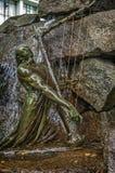 Der Fuß des Monuments - Brunnen zum berühmten norwegischen Komponisten Lizenzfreies Stockbild