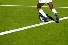 Der Fußball der Frauen Stockfotografie