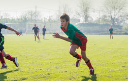 Der Fußball der Kinder Lizenzfreies Stockfoto