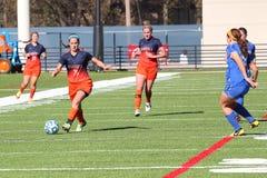 Der Fußball Frauen College NCAA Div. III Lizenzfreie Stockfotografie