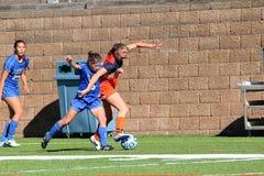 Der Fußball Frauen College NCAA Div. III Stockfotos