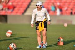2015 der Fußball NCAA-Frauen - WVU-Maryland Stockbild
