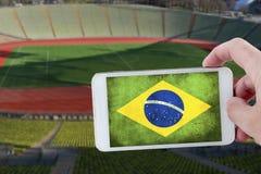 An der Fußball-Weltmeisterschaft Stockfotografie