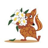 Der Fuchs und die Gänseblümchen Stockfotos