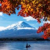 Der Fujisan in Autumn Color, Japan Stockbilder