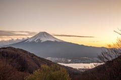Der Fujisan an den Sonnenuntergangtagen Lizenzfreies Stockbild