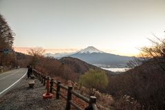 Der Fujisan an den Sonnenuntergangtagen Lizenzfreie Stockfotografie