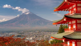 Der Fujisan im Herbst stock video footage