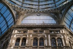 Der Galleria Umberto I in Neapel, Italien stockfotografie