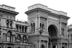 Der Galleria Vittorio Emanuele II Stockbild