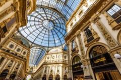 Der Galleria Vittorio Emanuele II in Mailand, Italien Lizenzfreie Stockfotografie