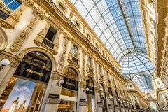 Der Galleria Vittorio Emanuele II in Mailand, Italien Lizenzfreies Stockfoto