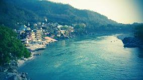 Der Ganges in Indien Lizenzfreies Stockfoto