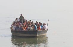 Der Ganges-Kreuzfahrtboot Varanasi Indien Lizenzfreies Stockfoto
