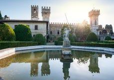 Der Garten der historischen Abtei von Passignano Lizenzfreies Stockfoto