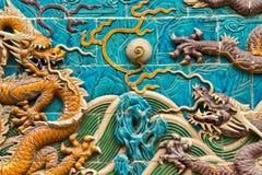 Der Garten-Drache Wall017 des Kaisers Stockfotos