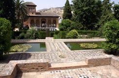 Der Garten von Alhambra-Palast, Granada, Spanien Lizenzfreie Stockbilder