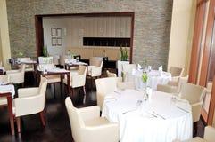 Der Gaststätteinnenraum des Luxushotels Lizenzfreies Stockfoto