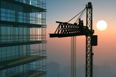 Der Gebäudekran Lizenzfreies Stockbild