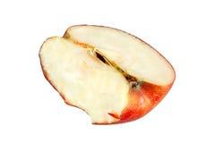 Der gebissene rote Apfel Stockbilder