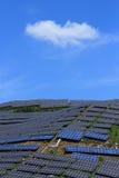 Der Gebrauch von Sonnenenergie Stockfotos