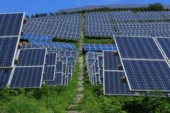 Der Gebrauch von Sonnenenergie Lizenzfreies Stockbild