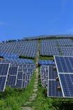 Der Gebrauch von Sonnenenergie Lizenzfreie Stockbilder