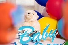 Der Geburtstag des Babys Lizenzfreie Stockfotos