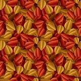 Der gefallene Herbst lässt nahtloses Muster stock abbildung