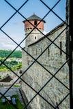 In der Gefangenschaft im alten Schloss lizenzfreies stockbild