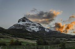 Der gefrorene Berg Lizenzfreie Stockfotos