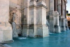 Der gefrorene Brunnen Acqua Paola Lizenzfreie Stockfotografie