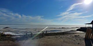 Der gefrorene Eriesee stockfotos