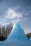 Der gefrorene Geysir im Holz Stockbilder