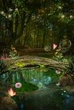 Der geheime Teich Stockfotos