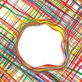 Der gekurvte Regenbogen der abstrakten Kunst streift bunten Hintergrund Lizenzfreies Stockfoto