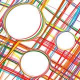 Der gekurvte Regenbogen der abstrakten Kunst streift bunten Hintergrund Stockfotografie