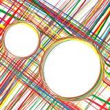 Der gekurvte Regenbogen der abstrakten Kunst streift bunten Hintergrund Stockfoto
