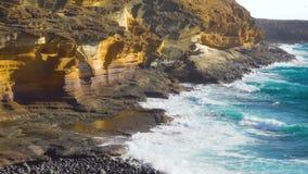 Der gelbe Berg in Teneriffa stock video