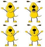 Der gelbe Hund stock abbildung