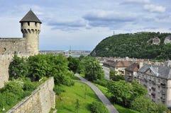 Der Gellert-Hügel vom Schloss-Hügel Lizenzfreie Stockfotos