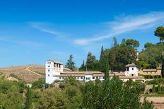 Der Generalife-Palast, Granada, Spanien Lizenzfreie Stockfotos