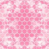 Der geometrische Hintergrund gemacht aus Hexagonen in den verschiedenen Farben/im Retro- Hexagonhintergrund heraus stock abbildung