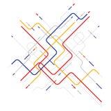 Der geometrischen abstrakter Hintergrund Wellenelemente Digital Stockfoto