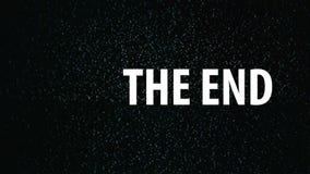 Der Geräuschhintergrund des Endentitels im Fernsehen Endreihenfolge stock video footage