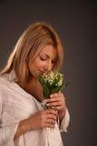Der Geruch der Lilie des Tales Stockfotos