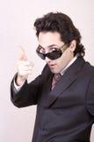 Der Geschäftsmann in den Sonnenbrillen Lizenzfreies Stockfoto