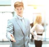 Der Geschäftsmann, Hand für Händedruck Der Abschluss des Geschäfts Stockbild